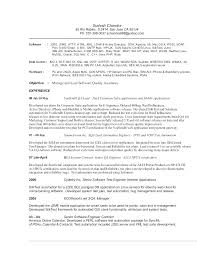 Test Engineer Resume Objective Test Engineer Resume Trezvost
