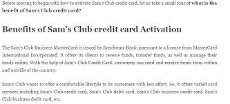club credit card very easy