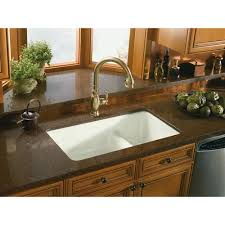 Granite Kitchen Sinks Pros And Cons Kohler Iron Tones Smart Divide Drop In Undermount Cast Iron 33 In