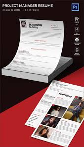 Attractive Resume Templates Fascinating Attractive Project Manager Resume Portfolio Template Free