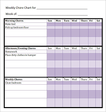 Make A Chore Chart Template 16 Sample Chore Chart Templates In Docs Word Pdf