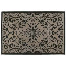 rugs scroll black accent rug in x small area