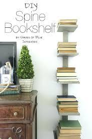 spine wall shelf bookshelf diy