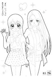 Anime Girls Coloring Pages Cute Girl Coloring Pages As Well Anime