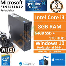 hp elitedesk 800 g1 intel core i3 4130 3 4ghz 8gb 64 1000gb