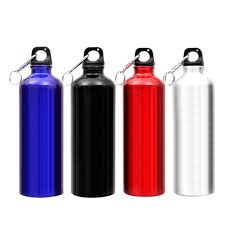 Drinking Bottle Water Wide Mouth <b>Aluminum Alloy</b> Travel Outdoor ...