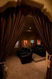 curtains to shield light from rest of room step up for second row seating cool basement ideas home theater