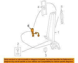 toyota oem 09 13 corolla front seat belt buckle left 7324012280b0