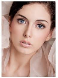 natural wedding makeup blue eyes