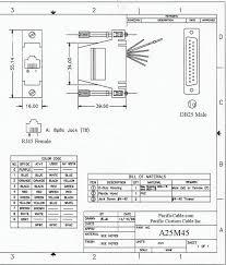 a25m45 d25 male to rj45 8 wire a25m45 drawing d25 male to rj45 8 wire