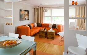 Orange Decorating For Living Room Inspiring Orange Living Room With Cool Design And Decorating Ideas