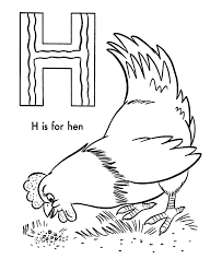 Small Picture H Is For Hen Alphabet Coloring Pages Printable Alphabet Coloring