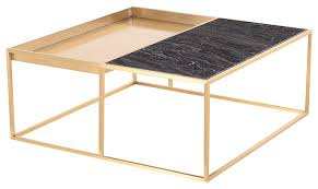 gold coffee table modern black marble top email save