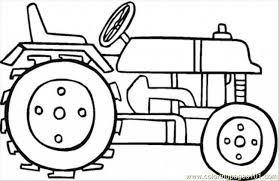 Small Picture Online Tractor Coloring Sheets For Preschoolers Transportation
