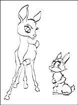 Bambi En Konijn Kleurplaat Voor Afdrukken Gratis Kleurplaten