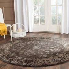 vintage soft anthracite 6 ft x 6 ft round area rug