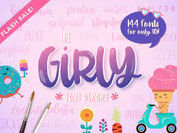 The Girly Font Bundle 114 Fonts For Only 15 By Thehungryjpeg Com