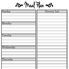 meal planner free meal planning free weekly menu planner printable