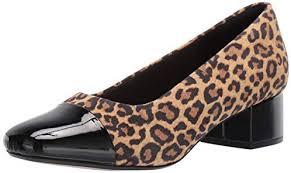 Chartli Deva Pump Clarks Womens Chartli Diva Shoe Tan Leopard Suede 80 M Us