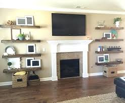 full size of diy floating shelves for my living room next to fireplace brilliant furniture drop
