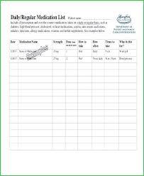 Medication Lists Templates Free Printable Medication List Template Free Patient