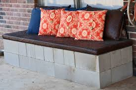 Furniture Cement Backyard Ideas Cinder Block Bench