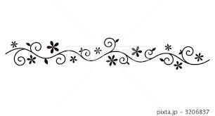 飾り罫花のイラスト素材 3206837 Pixta