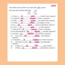 Practice With Verbs Like Gustar Worksheets Teaching