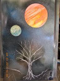 spray paint space art