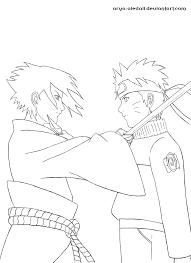 Coloring Pages Naruto Vs Sasuke Naruto Vs Sasuke Coloring Pages