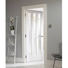 interior clear glass door. Internal White Primed Aston 3 Light Door With Clear Glass Interior