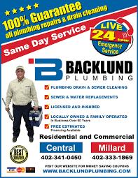 backlund plumbing omaha. Beautiful Omaha Yellow Page Ad Inside Backlund Plumbing Omaha G