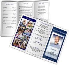 Tri Fold Samples Trifold Funeral Program Sample Funeral Program Example