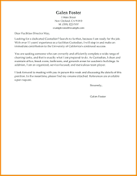 Janitorial Cover Letter Best Maintenance Janitorial Cover Letter