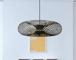 pendant and chandelier lighting. Rustic Chandelier Light-rustic Ceiling Lighting- Single Mount Drum Chandelier- Lampe Bois- Pendant And Lighting