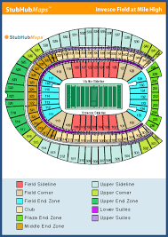 Broncos Tickets Seating Chart Invesco Field Seating Chart The Broncos Desk