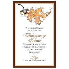 Thanksgiving Invites Autumn Leaf Thanksgiving Invitations