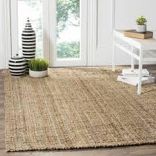 farmhouse area rug rustic beach coastal cabin thick jute neutral natural fiber