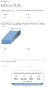 print flow rate definition equation worksheet