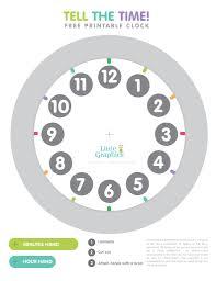 Free Printable Clock Little Graphics