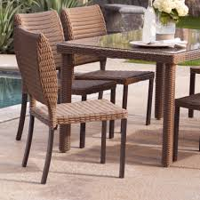 Wicker And Glass Dining Table