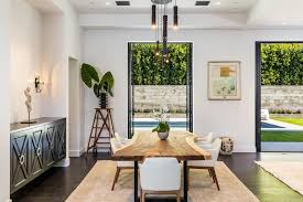 los angeles casual chic living with top buffets and sideboards dining room contemporary chairs large glass