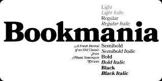is a revival of bookman oldstyle