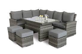 image corner dining set. Maze Rattan Victoria Corner Sofa Dining Seat With Rising Table - Image 2. Set Includes :