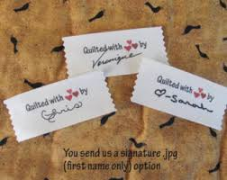 Custom Clothing Labels Knitting labels by mountainstreetarts & Signature Personalized Quilting labels=Large size-1.5