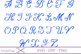 script alphabet font svg exle image 2