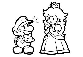 Kleurplaten Van Mario En Luigi
