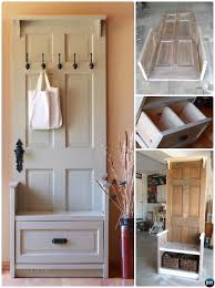 diy door entry bench repurpose old door into entryway bench instruction