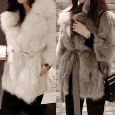 details about luxury women faux fur 3 4 sleeve winter slim coat warm jacket outwear clothes uk