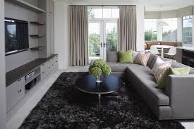 living room with a sectional sofa